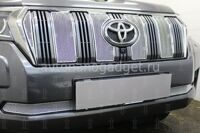 Защита радиатора Toyota Land Cruiser Prado 150 2017- chrome верх PREMIUM