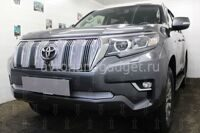 Защита радиатора Toyota Land Cruiser Prado 150 2017- black низ PREMIUM