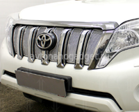 Защита радиатора Toyota Land Cruiser Prado 150 2013-2017  chrome PREMIUM
