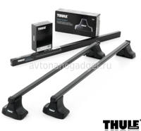 Багажник Thule SquareBar на стальных дугах для Chrysler Grand Voyager Минивэн 2001-2007