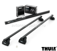 Багажник Thule SquareBar на стальных дугах для Chrysler PT Cruiser Универсал 2001-2010