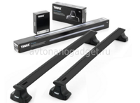 Багажник Thule WingBar Black на аэродинамических дугах для Ford C-Max Минивэн 2010-2018
